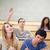 Öğrenciler · sınıf · arkadaşı · el · amfitiyatro · mutlu - stok fotoğraf © wavebreak_media
