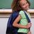portret · schoolmeisje · tonen · rugzak · klas · glimlach - stockfoto © wavebreak_media