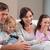 famille · heureuse · jouer · jeux · vidéo · ensemble · salon · famille - photo stock © wavebreak_media