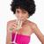 atrakcyjny · nastolatek · szampana · biały · wina - zdjęcia stock © wavebreak_media