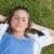jeunes · fille · mains · derrière · tête - photo stock © wavebreak_media