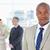 ernst · Executive · Anzug · stehen · Team · hinter - stock foto © wavebreak_media