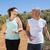 fit smiling couple jogging down mountain trail stock photo © wavebreak_media
