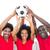 amerikaanse · voetbal · fans · veld · man · paar - stockfoto © wavebreak_media