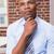 thoughtful businessman looking up in office stock photo © wavebreak_media