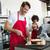 camarero · camarera · negocios · alimentos · hombre · vidrio - foto stock © wavebreak_media