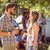 hipster friends chatting on campsite stock photo © wavebreak_media