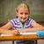 cute · weinig · school · blond · meisje · klas - stockfoto © wavebreak_media