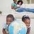 liefde · aarde · home · jong · meisje · wereldbol · glimlach - stockfoto © wavebreak_media