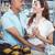maduro · casal · padaria · mulher · comida · compras - foto stock © wavebreak_media