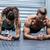 muscular couple doing planking exercises stock photo © wavebreak_media