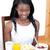 happy woman having an healthy breakfast stock photo © wavebreak_media