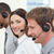 young business people with headset on stock photo © wavebreak_media
