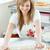 confident woman preparing a cake in the kitchen stock photo © wavebreak_media