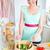 концентрированный · Салат · кухне · домой · женщину - Сток-фото © wavebreak_media