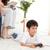 heureux · famille · jouer · jeux · vidéo · canapé · fille - photo stock © wavebreak_media