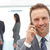 feliz · empresario · teléfono · equipo · de · trabajo · negocios - foto stock © wavebreak_media