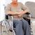 senior · cadeira · de · rodas · espaço · idoso · rir - foto stock © wavebreak_media