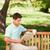 człowiek · czytania · gazety · kawy · lata · zielone - zdjęcia stock © wavebreak_media