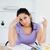 депрессия · молодые · студент · учета · женщину · бумаги - Сток-фото © wavebreak_media