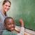 jonge · leraar · onderwijs · wiskunde · schoolbord · klas - stockfoto © wavebreak_media
