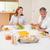 aile · konuşma · birlikte · akşam · yemeği · gülümseme · erkek - stok fotoğraf © wavebreak_media
