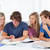 группа · студентов · сидят · вместе · изучения · книга - Сток-фото © wavebreak_media