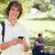 portré · fiatalember · tart · okostelefon · park · barátok - stock fotó © wavebreak_media
