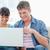 Paar · Laptop · Lächeln · glücklich · home · weiblichen - stock foto © wavebreak_media