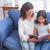 gericht · brunette · lezing · boek · sofa · home - stockfoto © wavebreak_media