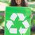 young environmental activist smiling at the camera holding a pos stock photo © wavebreak_media
