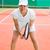csinos · teniszező · mosolyog · kamera · napos · idő · sport - stock fotó © wavebreak_media