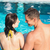 pár · együtt · úszómedence · nő · víz · család - stock fotó © wavebreak_media