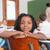 uśmiechnięty · chłopca · wesoły · stwarzające · Tablica - zdjęcia stock © wavebreak_media
