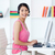 Asian businesswoman with headset on at a computer stock photo © wavebreak_media