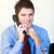 bello · parlando · telefono · maschio · ufficio - foto d'archivio © wavebreak_media
