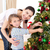 mother and daughter at home at christmas time stock photo © wavebreak_media