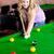 heldere · vrouw · spelen · zwembad · club · hand - stockfoto © wavebreak_media