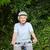 olgun · kadın · dağ · bisikleti · dışında · gülümseme · dağ · bisiklet - stok fotoğraf © wavebreak_media