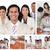 Collage · lächelnd · Geschäftsleute · unterschiedlich · Büro · Arbeit - stock foto © wavebreak_media