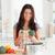 nő · zöldségek · áll · konyha · kezek · étel - stock fotó © wavebreak_media