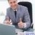 счастливым · бизнесмен · столе · бизнеса · бумаги - Сток-фото © wavebreak_media