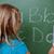 Schülerin · schriftlich · Briefe · Tafel · Schule · glücklich - stock foto © wavebreak_media