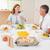aile · birlikte · yemek · masası · gülümseme · erkek - stok fotoğraf © wavebreak_media