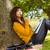 nadenkend · jonge · asian · vrouw · groene - stockfoto © wavebreak_media
