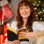 smiling redhead sitting on the floor reading stock photo © wavebreak_media