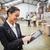 zakenvrouw · digitale · tablet · distributie · magazijn · vrouwen - stockfoto © wavebreak_media