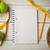 jegyzettömb · egészséges · életmód · fa · asztal · víz · étel · egészség - stock fotó © wavebreak_media
