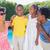 gelukkig · vader · zoon · zwembad · leuk · water · glimlach - stockfoto © wavebreak_media