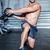 muscular man doing exercise with medicine ball stock photo © wavebreak_media